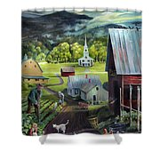 Summer On The Back Road In Vermont Shower Curtain
