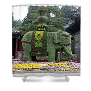 Summer Palace Elephant Shower Curtain