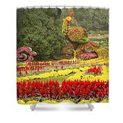 Summer Palace Flower Phoenix Shower Curtain