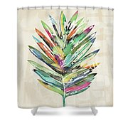Summer Palm Leaf- Art By Linda Woods Shower Curtain
