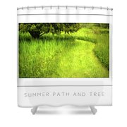 Summer Path And Tree Poster Shower Curtain