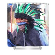 Summer Peacock Impersonation Shower Curtain