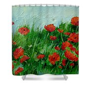 Summer Poppies Shower Curtain