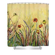 Summer Poppies Shower Curtain
