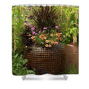 Summer Pot Shower Curtain