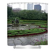 Summer Rain In The Conservatory Garden Shower Curtain