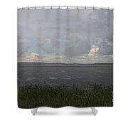 Summer Rain On Plymouth Pond Maine Shower Curtain