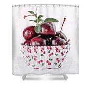 Summer Red Cherries Shower Curtain
