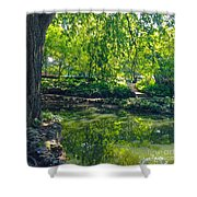 Summer Reflections At Lafayette Park Shower Curtain