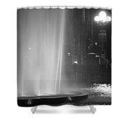 Summer Romance - Washington Square Park Fountain At Night Shower Curtain