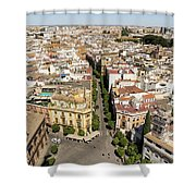 Summer Rooftops In Seville Spain Shower Curtain