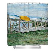 Summer Row Boats Shower Curtain