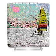 Summer Sailin Shower Curtain
