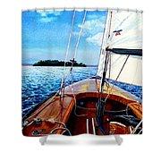 Summer Sailing Shower Curtain