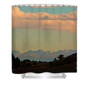 Summer Sangre De Cristo Sunrise Shower Curtain