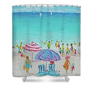 Summer Scene Diptych 1 Shower Curtain