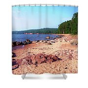 Summer Shores Of Lake Superior Shower Curtain