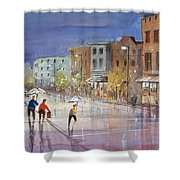Summer Showers In Green Bay Shower Curtain