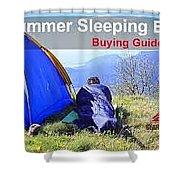 Summer Sleeping Bags Shower Curtain