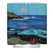 Summer Solstice Strawberry Moon Shower Curtain