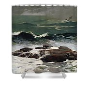 Summer Squall Shower Curtain by Winslow Homer