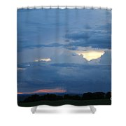 Summer Storm Moving In Corinna Maine  Shower Curtain