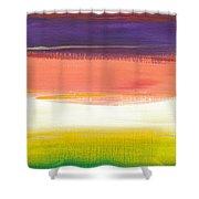 Summer Stripes Shower Curtain