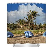 Summer Stripes Shower Curtain