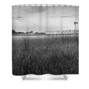 Summer Sunrise 2015 Bw Shower Curtain