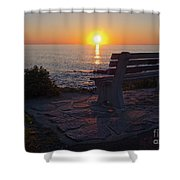 Summer Sunrise, Marginal Way, Ogunquit, Maine  -67904 Shower Curtain