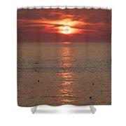 Summer Sunrise Rockport, Ma Shower Curtain