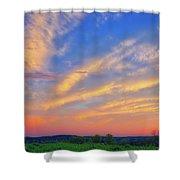 Retzer Nature Center - Summer Sunset #2  Shower Curtain