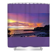 Summer Sunset After The Storm Shower Curtain