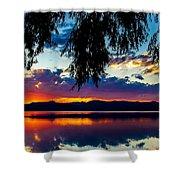 Sunset At Agency Lake, Oregon Shower Curtain