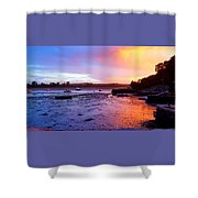 Summer Sunset At Low Tide Shower Curtain