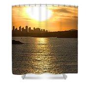 Summer Sunset In Sydney Shower Curtain