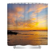 Summer Sunset Over Ipswich Bay Shower Curtain