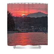 Summer Sunset Over Yukon Harbor.4 Shower Curtain