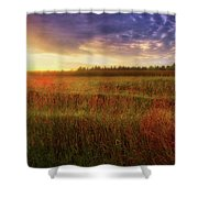 Summer Sunset - Waukesha Wisconsin  Shower Curtain