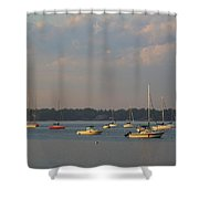 Summer Time At Little Neck Bay Shower Curtain