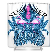 Summer Time Tropical  Shower Curtain