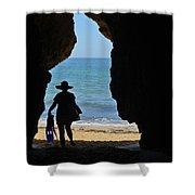 Summer Tourist Shower Curtain