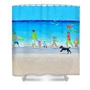 Summer Vacation Time Shower Curtain