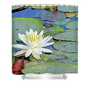 Summer Water Lily Shower Curtain