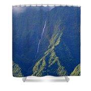 Summer Waterfall Behind Hanalei Bay Shower Curtain
