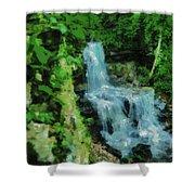 Summer Waterfall In West Milton Shower Curtain
