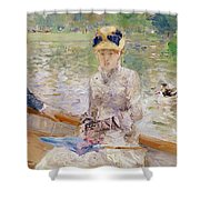 Summers Day Shower Curtain by Berthe Morisot