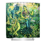 Summer's Joyous Meeting Shower Curtain