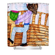 Summers Lunch Shower Curtain by Elinor Rakowski