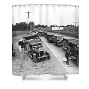 Summertime Country Traffic Jam Shower Curtain